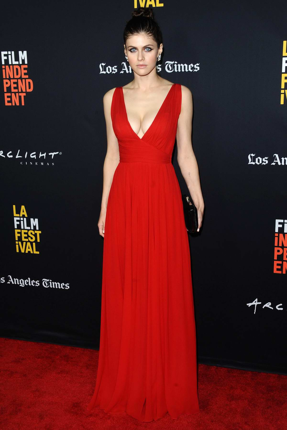 Alexandra Daddario attends Los Angeles Film Festival closing night premiere of 'Nomis' at the Arclight Theater in Los Angeles