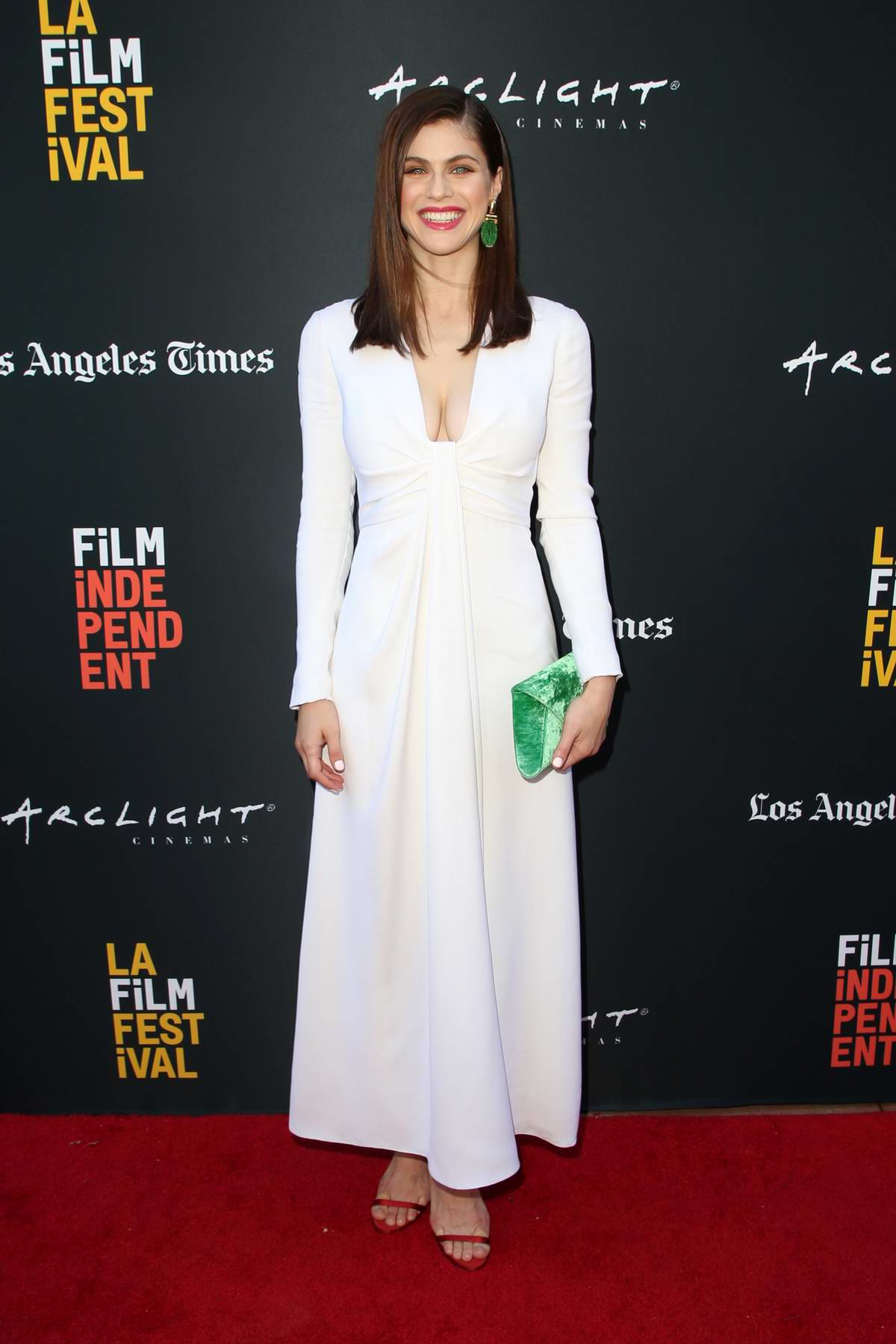 Alexandra Daddario attends 'We Have Always Lived In The Castle' premiere at LA Film Festival in Los Angeles