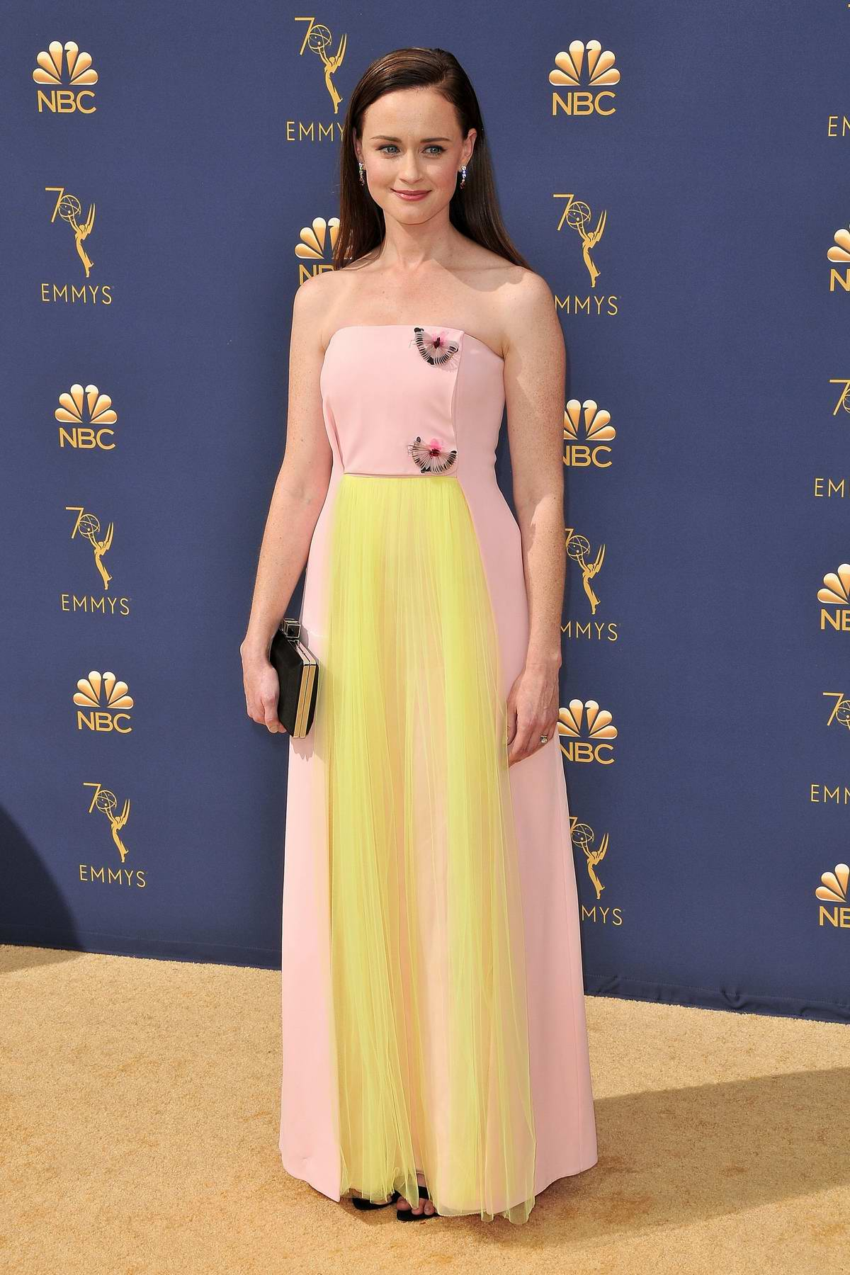 Alexis Bledel attends the 70th Primetime EMMY Awards (EMMYS 2018) at Microsoft Theater in Los Angeles