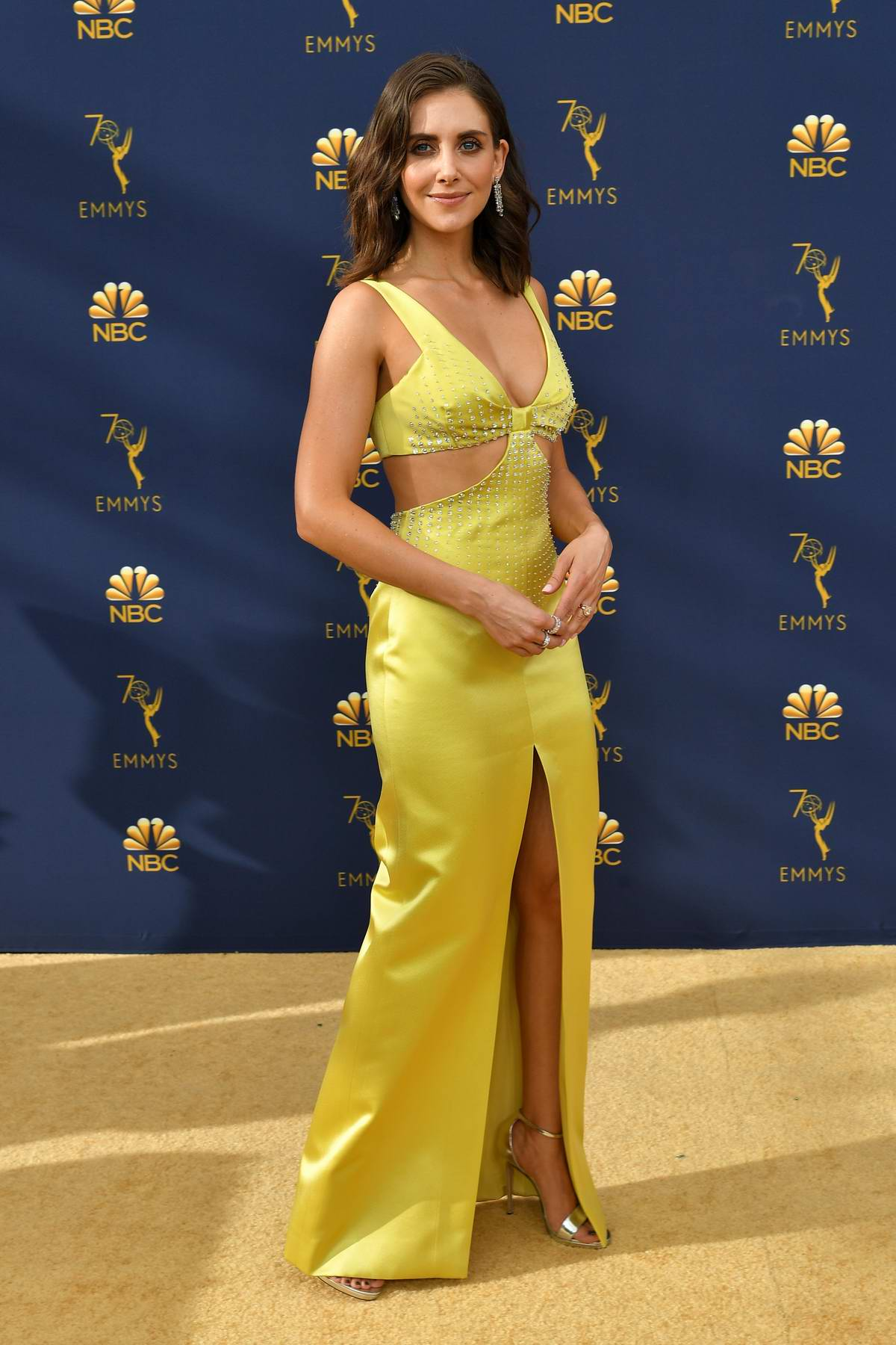 Alison Brie attends the 70th Primetime EMMY Awards (EMMYS 2018) at Microsoft Theater in Los Angeles
