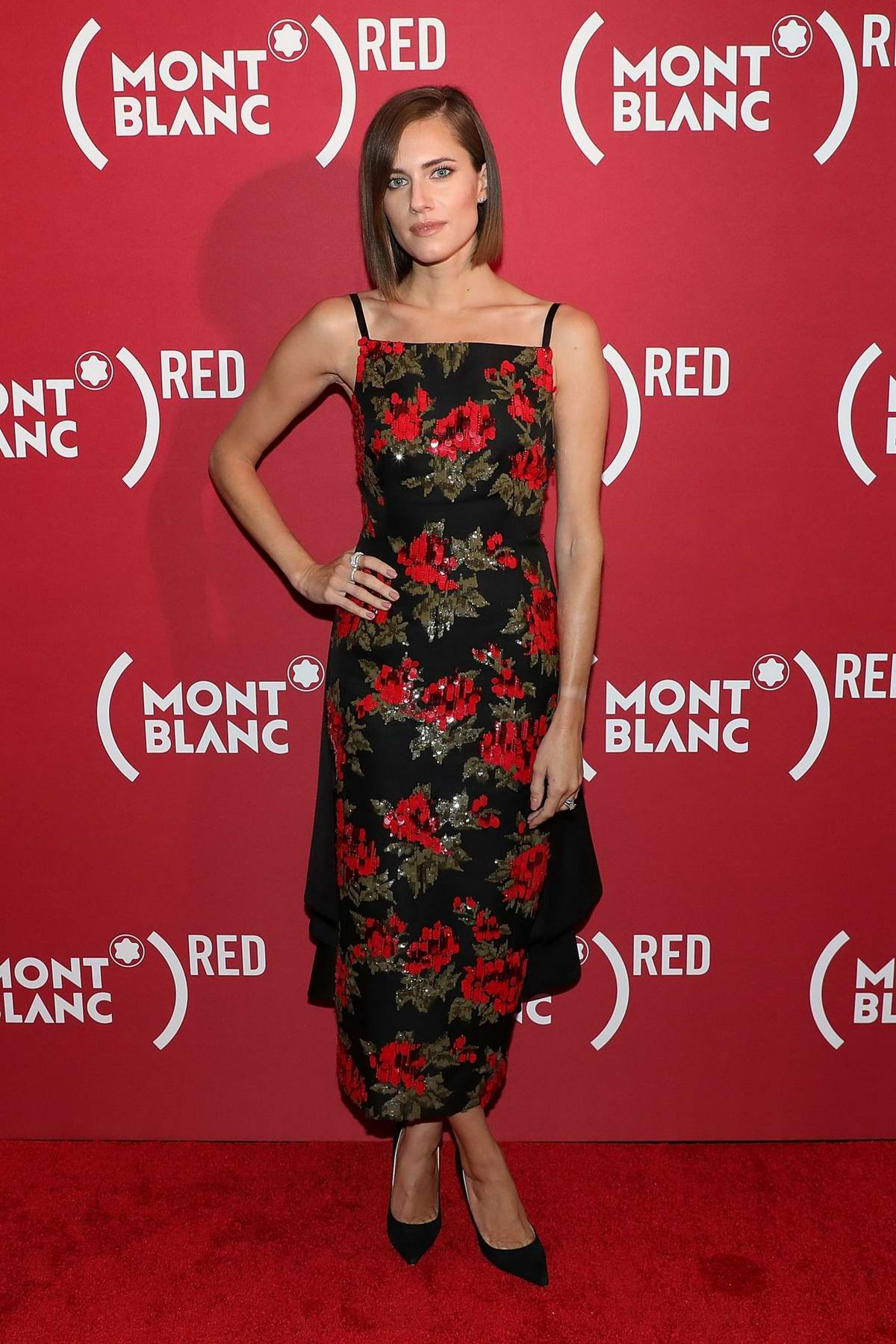 Allison Williams attends as Montblanc And (RED) Launch The New (Montblanc M)RED Collection To Fight AIDS in New York City