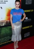 Alyssa Milano attends 'Fahrenheit 11/9' Los Angeles premiere at Samuel Goldwyn Theater in Los Angeles