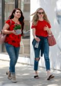 Amanda Seyfried grabs lunch with friends at Joan's On Third in Studio City, Los Angeles