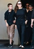 Angelina Jolie takes kids Shiloh and Pax out for a sushi lunch in Los Angeles