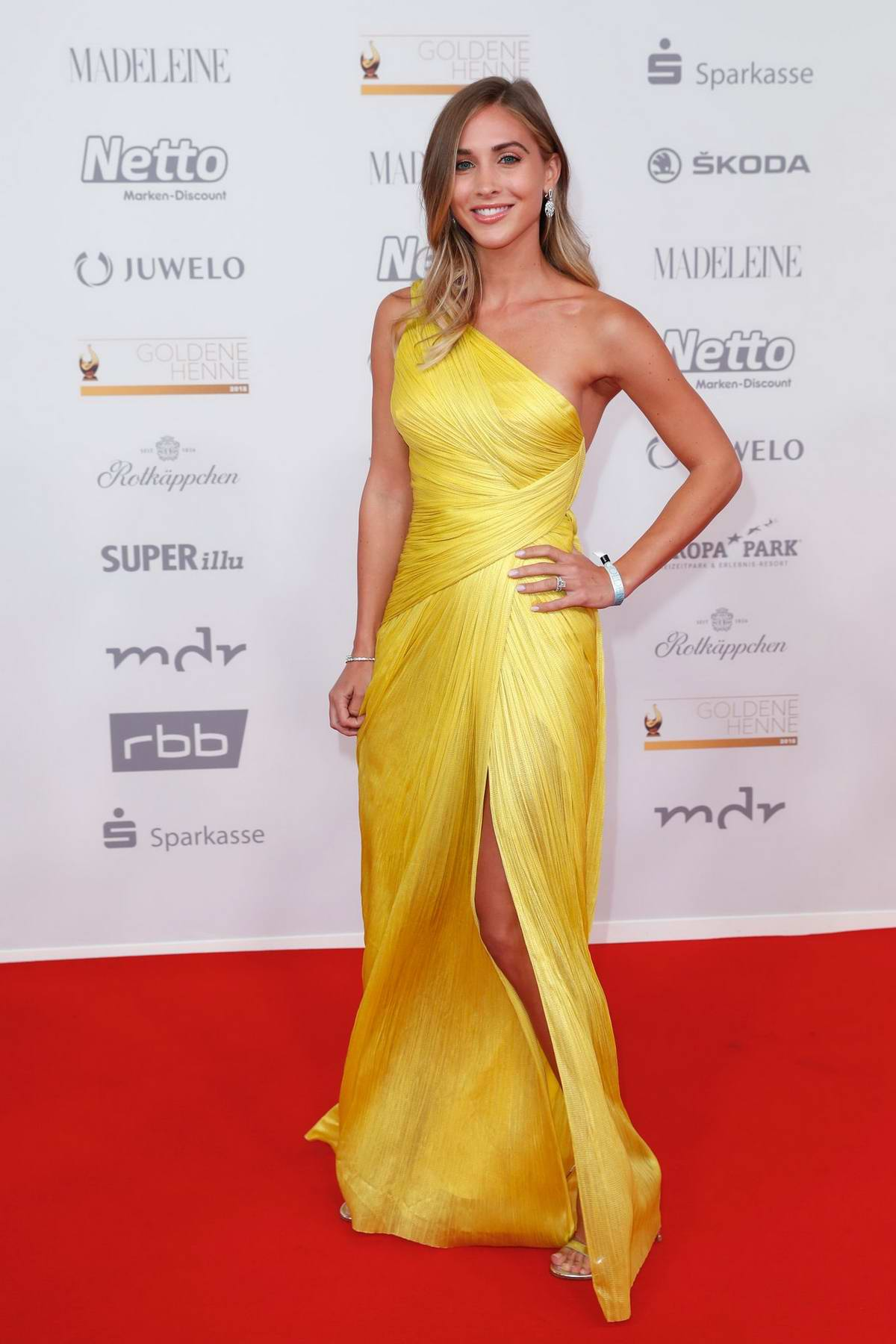 Ann-Kathrin Goetze attends the Goldene Henne in Leipzig, Germany