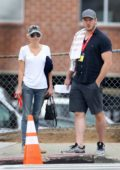 Anna Faris and Chris Pratt out for a morning stroll in Los Angeles