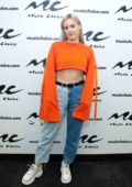 Anne-Marie Rose Nicholson visits Music Choice studios in New York City