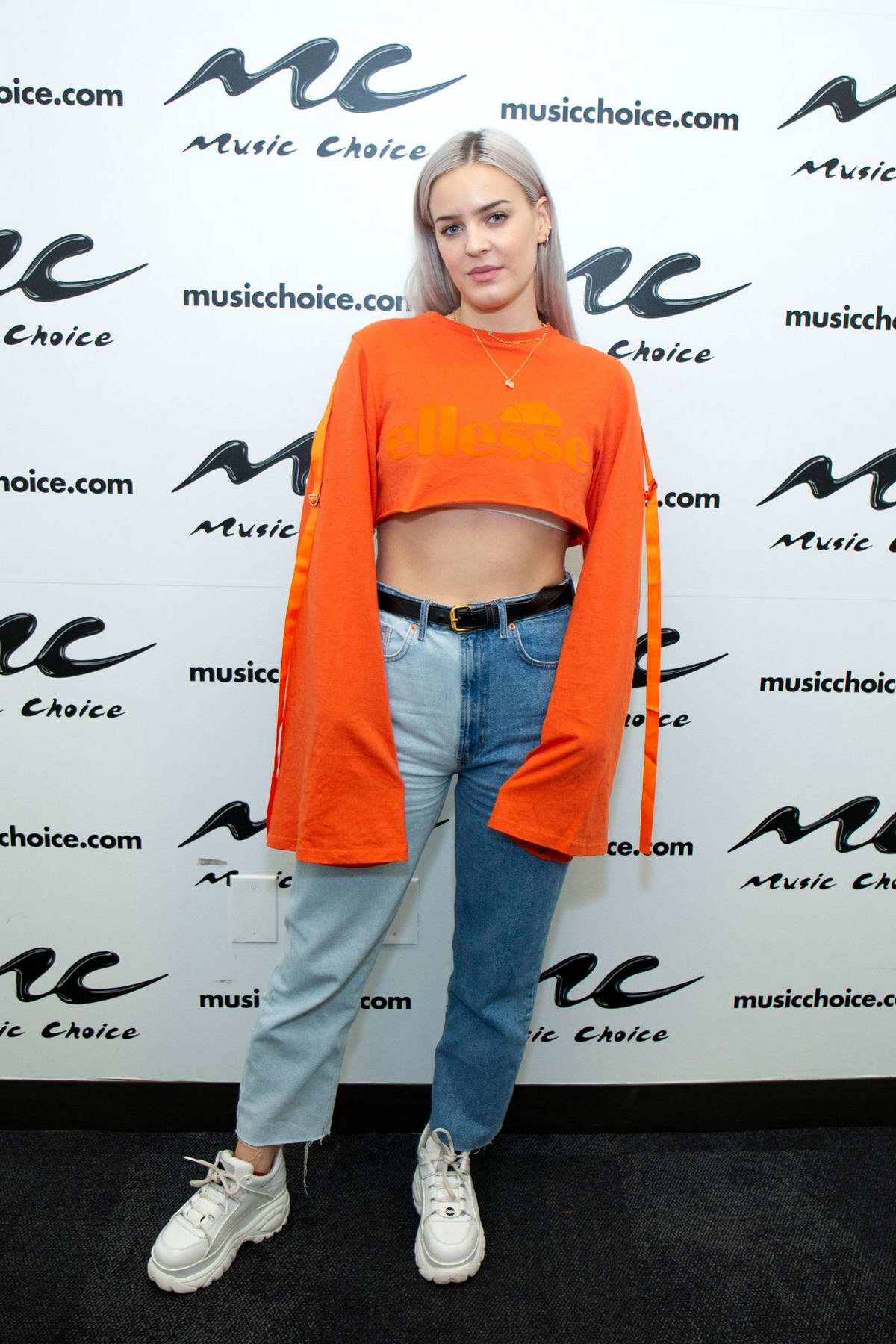 Anne-Marie Rose Nicholson visits Music Choice studios in New York City