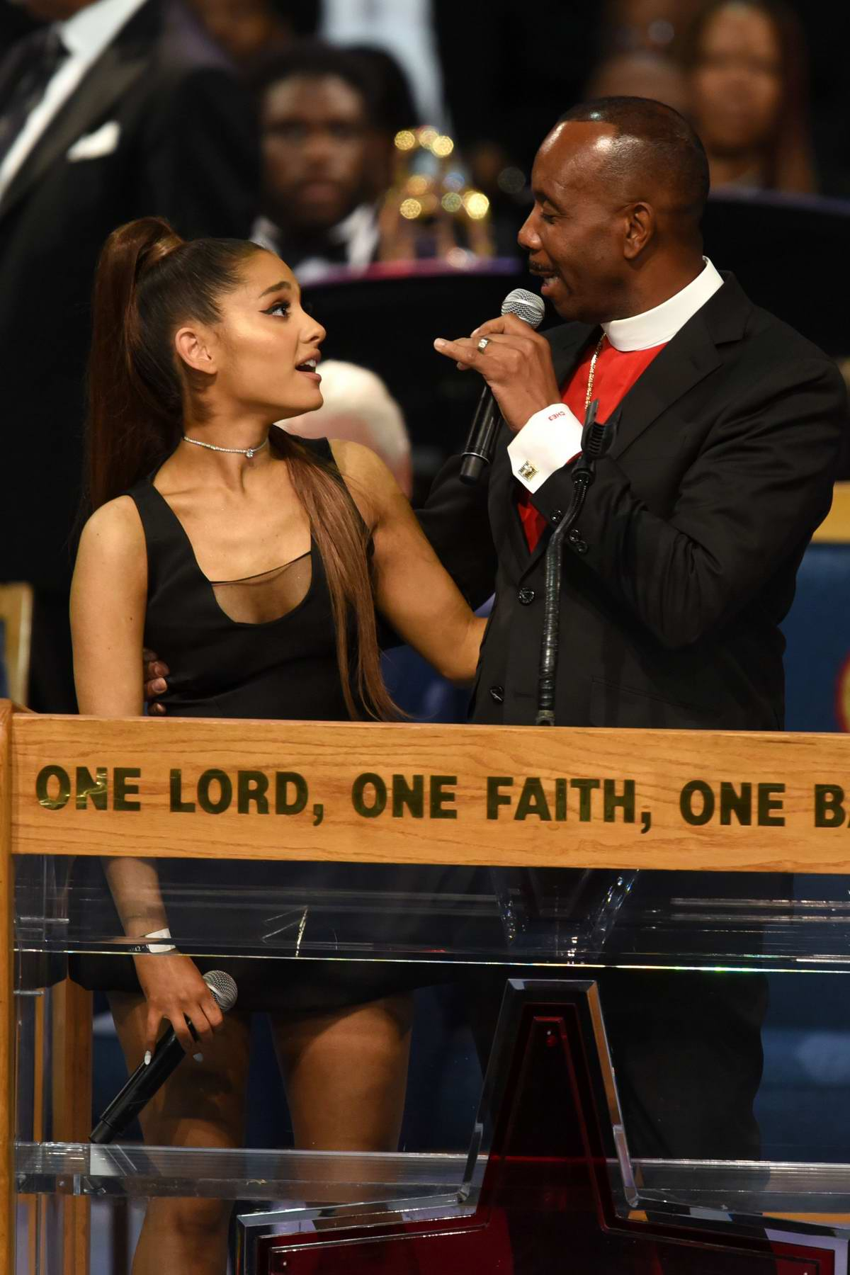 Ariana Grande attending Aretha Franklin's funeral in Detroit, Michigan