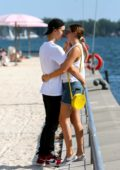 Bailee Madison and boyfriend Alex Lange enjoys a romantic date at Sugar Beach in Toronto, Canada