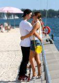 Bailee Madison and boyfriend Alex Lange enjoys a romantic date at Sugar Beach in Toronto, Canada
