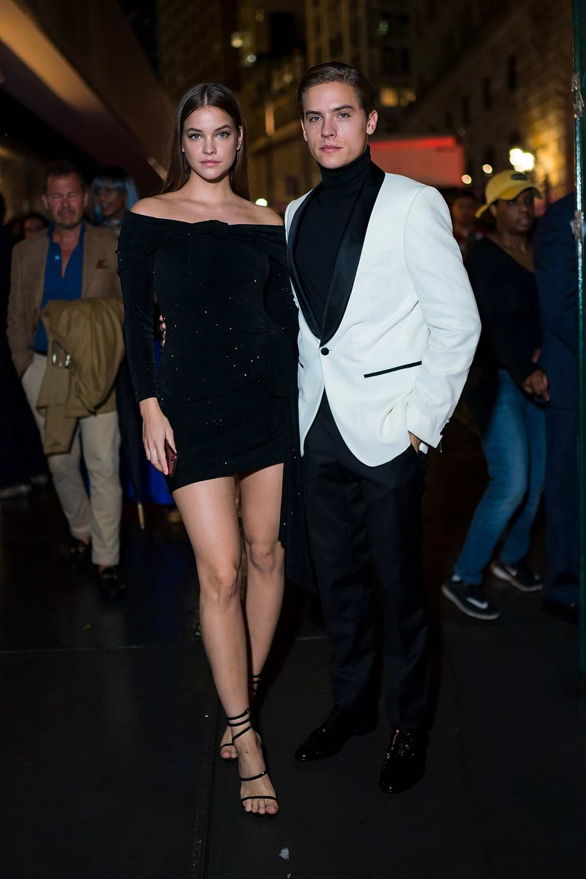 Barbara Palvin and Dylan Sprouse attends Vanity Fair and Saks Fifth Avenue celebrate Vanity Fair's Best-Dressed 2018 at Manhatta in New York City