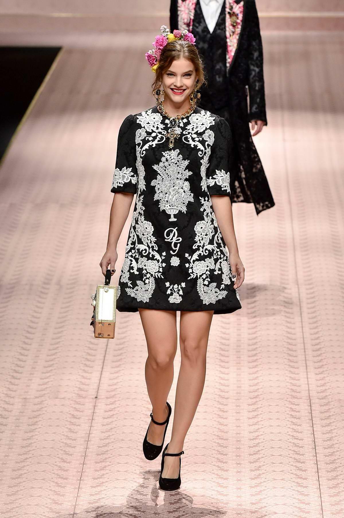 Barbara Palvin walks the runway for Dolce & Gabbana ...