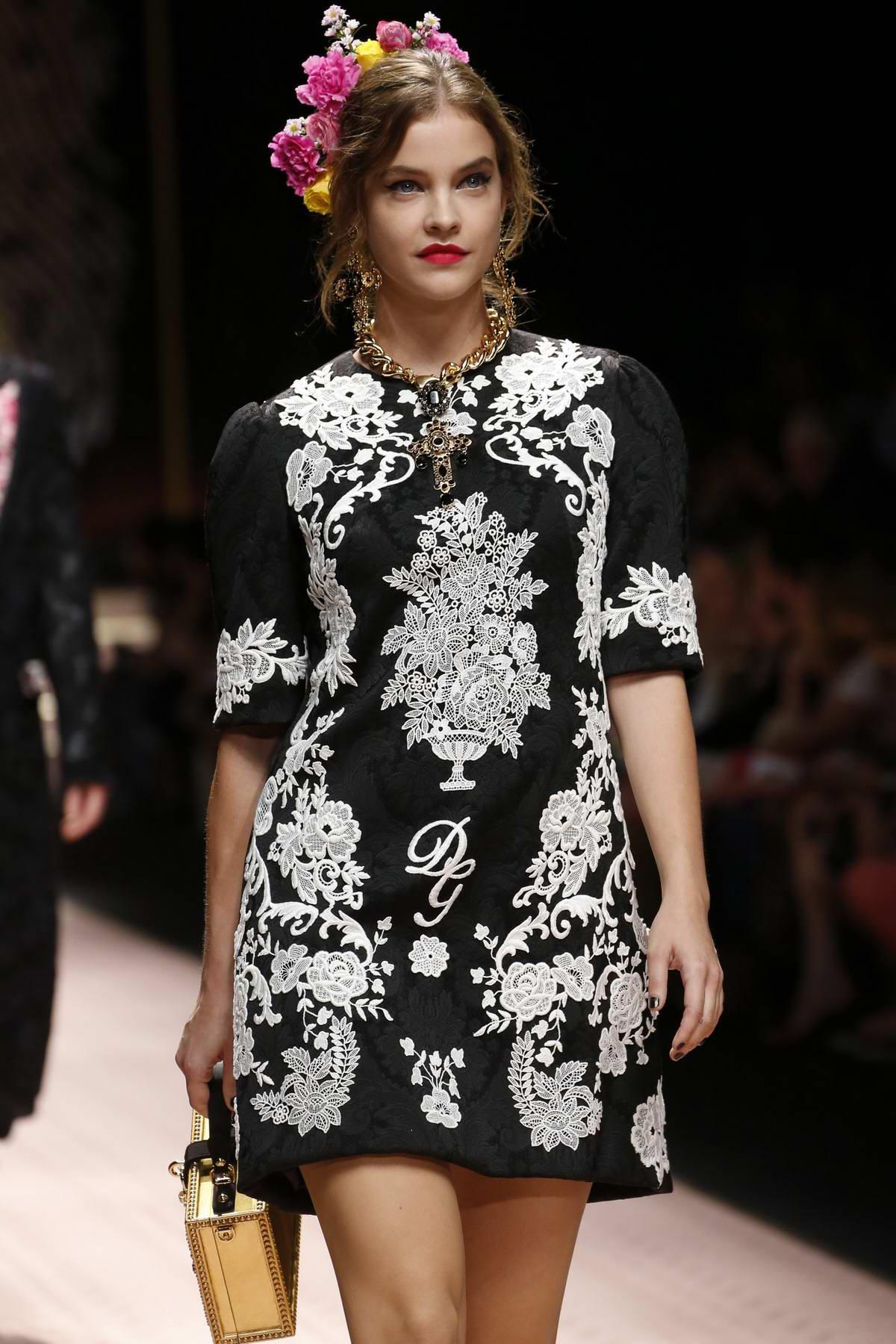 94cab9ef barbara palvin walks the runway for dolce & gabbana fashion show,  spring-summer 2019 during milan fashion week in milan, italy-230918_5