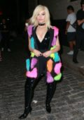 Bebe Rexha attends the Jeremy Scott Fashion Show during New York Fashion Week in New York City