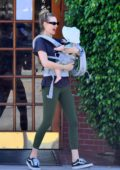 Behati Prinsloo takes both of her daughters out to lunch in Sherman Oaks, Los Angeles