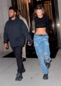 Bella Hadid spotted leaving her apartment with The Weeknd in New York City