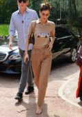 Bella Hadid spotted out in matching brown outfit during Milan Fashion Week in Milan, Italy