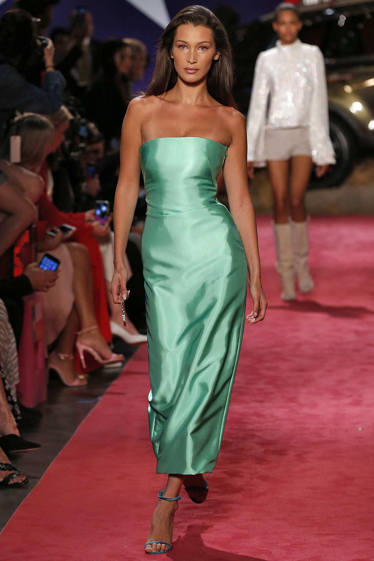 Bella Hadid walks on the runway for Brandon Maxwell Spring/Summer 2019 Fashion Show during New York Fashion Week in New York City