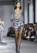 Bella Hadid walks the runway at Roberto Cavalli Fashion Show, Spring/Summer 2019 during Milan Fashion Week in Milan, Italy
