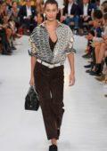 Bella Hadid walks the runway at the Tod's Show during Milan Fashion Week, Spring/Summer 2019 in Milan, Italy