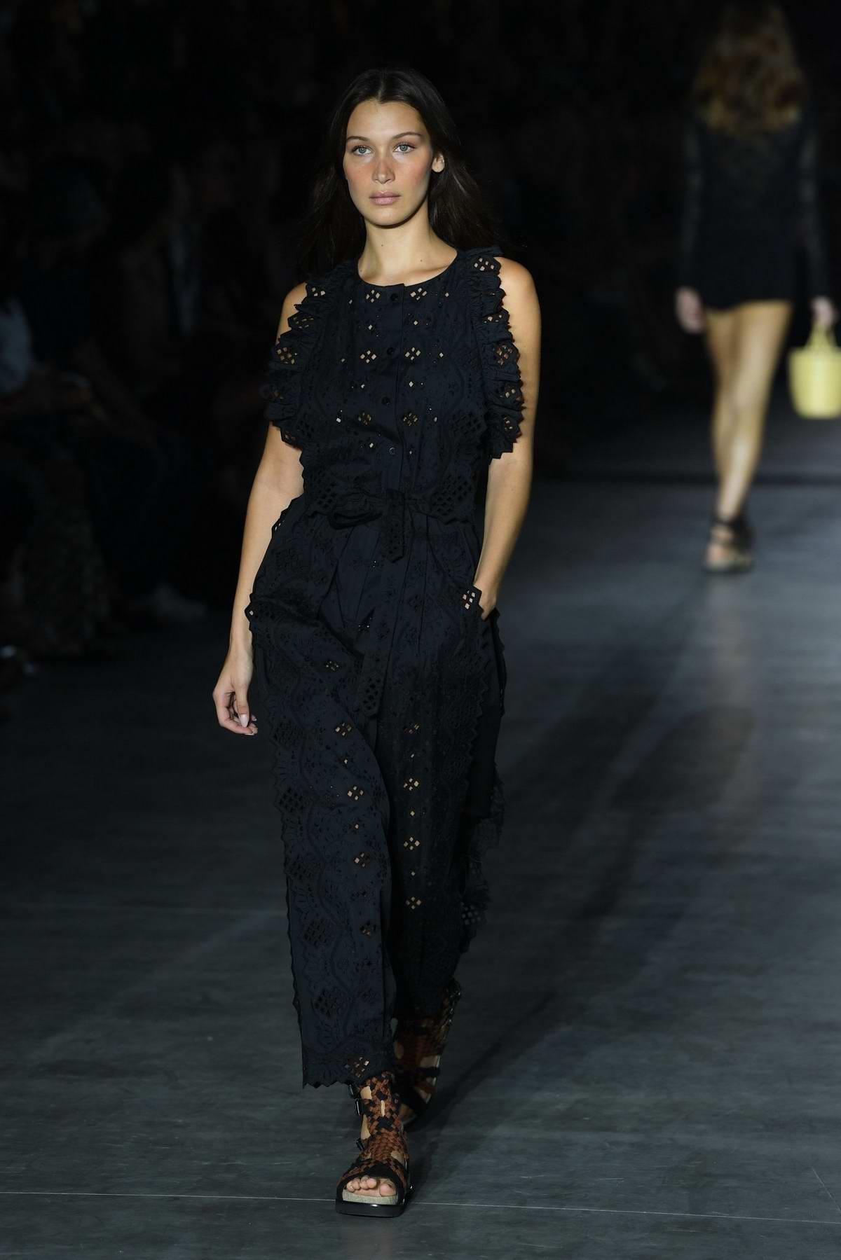 Bella Hadid walks the runway for Alberta Ferretti Show, Spring/Summer 2019 during Milan Fashion Week in Milan, Italy