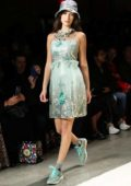 Bella Hadid walks the runway for Anna Sui Show Spring/Summer 2019 during New York Fashion Week in New York City