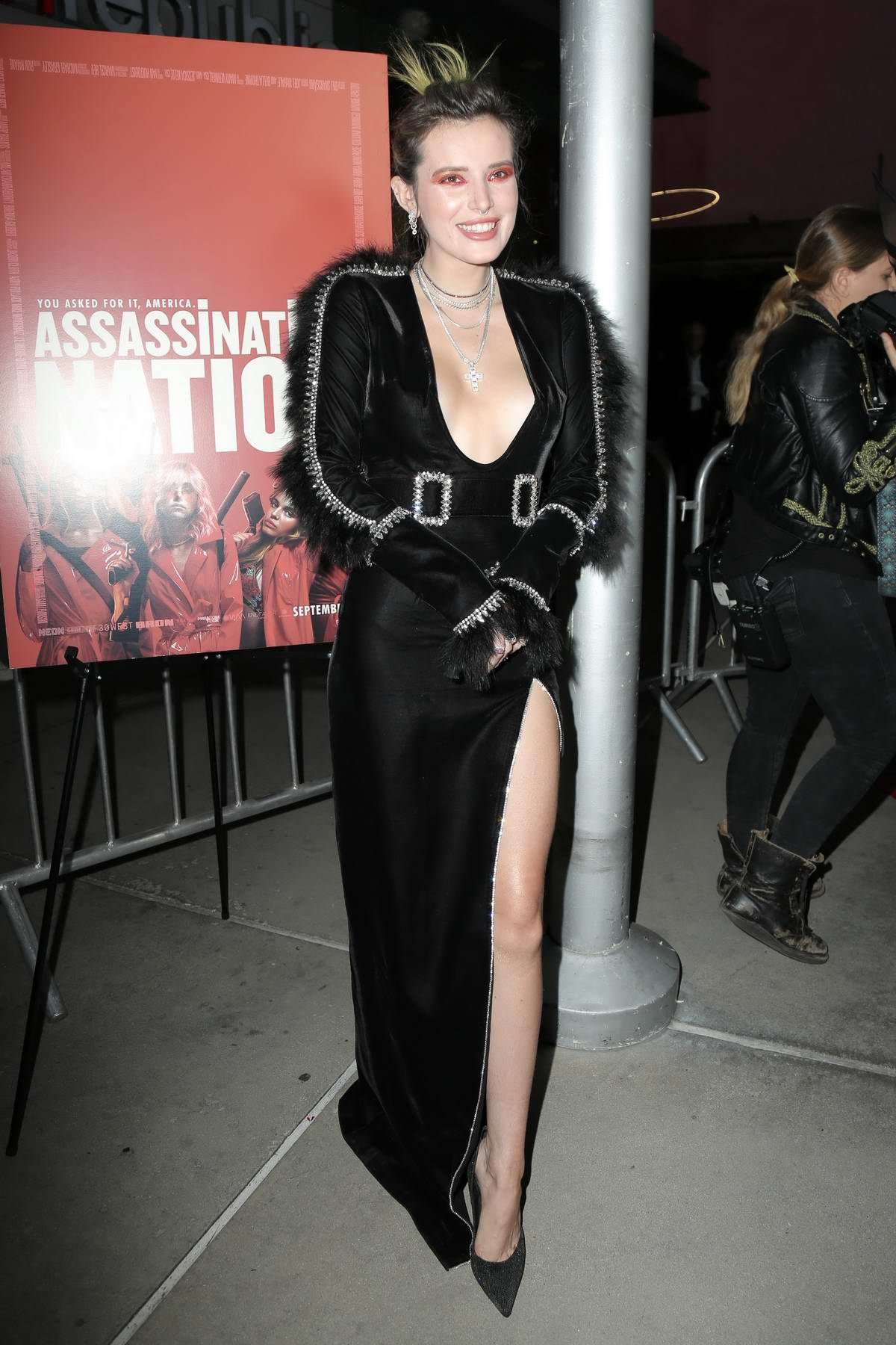 Bella Thorne attends 'Assassination Nation' film premiere at ArcLight Hollywood in Hollywood, Los Angeles