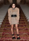 Camila Coelho attends the Balmain Show during Paris Fashion Week in Paris, France