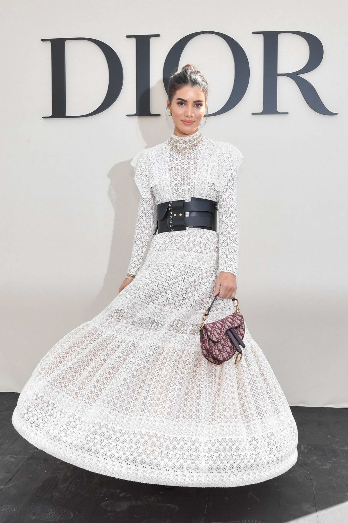 Camila Coelho attends the Christian Dior Show during Paris Fashion Week in Paris, France