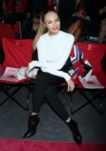 Candice Swanepoel at the front row of Brandon Maxwell Show during New York Fashion Week in New York City