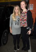 Carrie Underwood greets fans as she leaves TV show 'The Project' in Melbourne, Australia