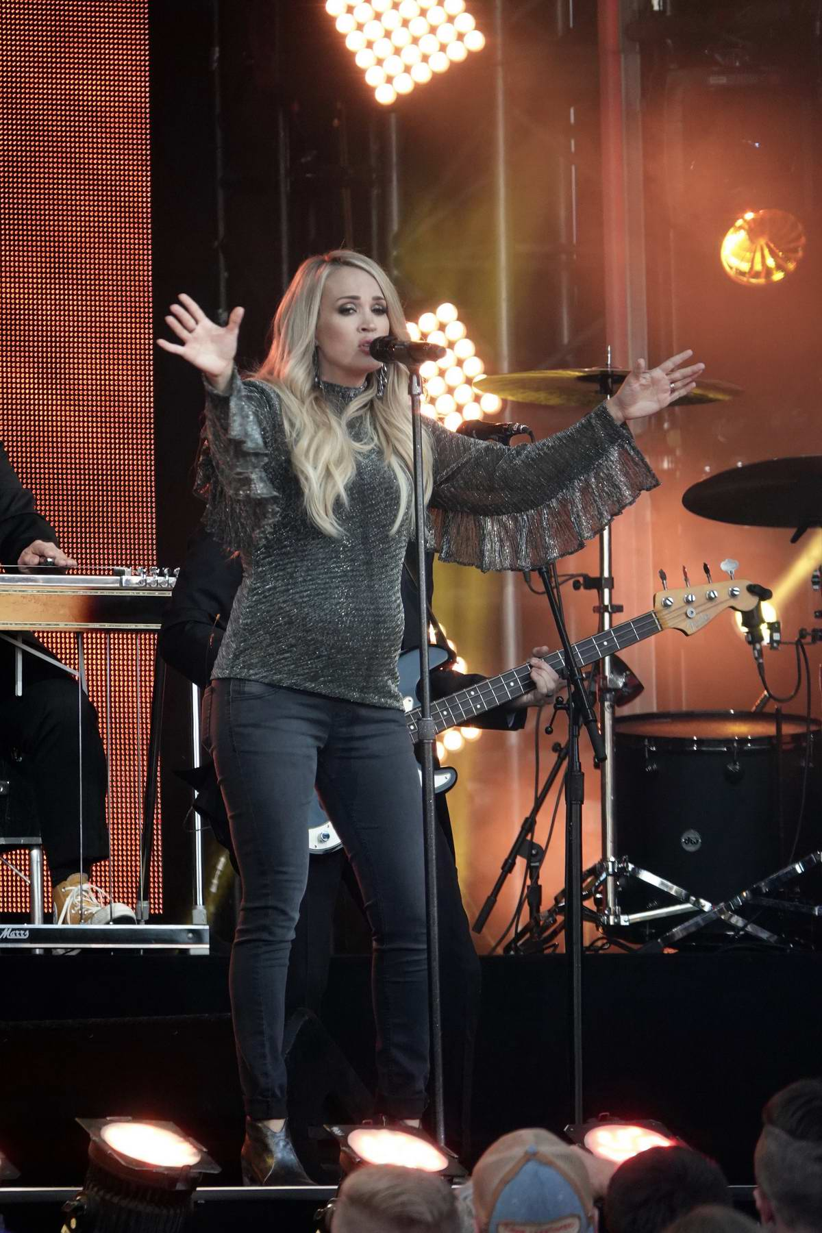 Carrie Underwood makes an appearance on the 'Jimmy Kimmel Live' in Hollywood, Los Angeles