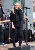 Carrie Underwood performs onstage at Federation Square for the Sunrise AFL Grand Final Show in Melbourne, Australia