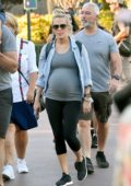 Carrie Underwood spends a day with her family at Disneyland in Anaheim, California