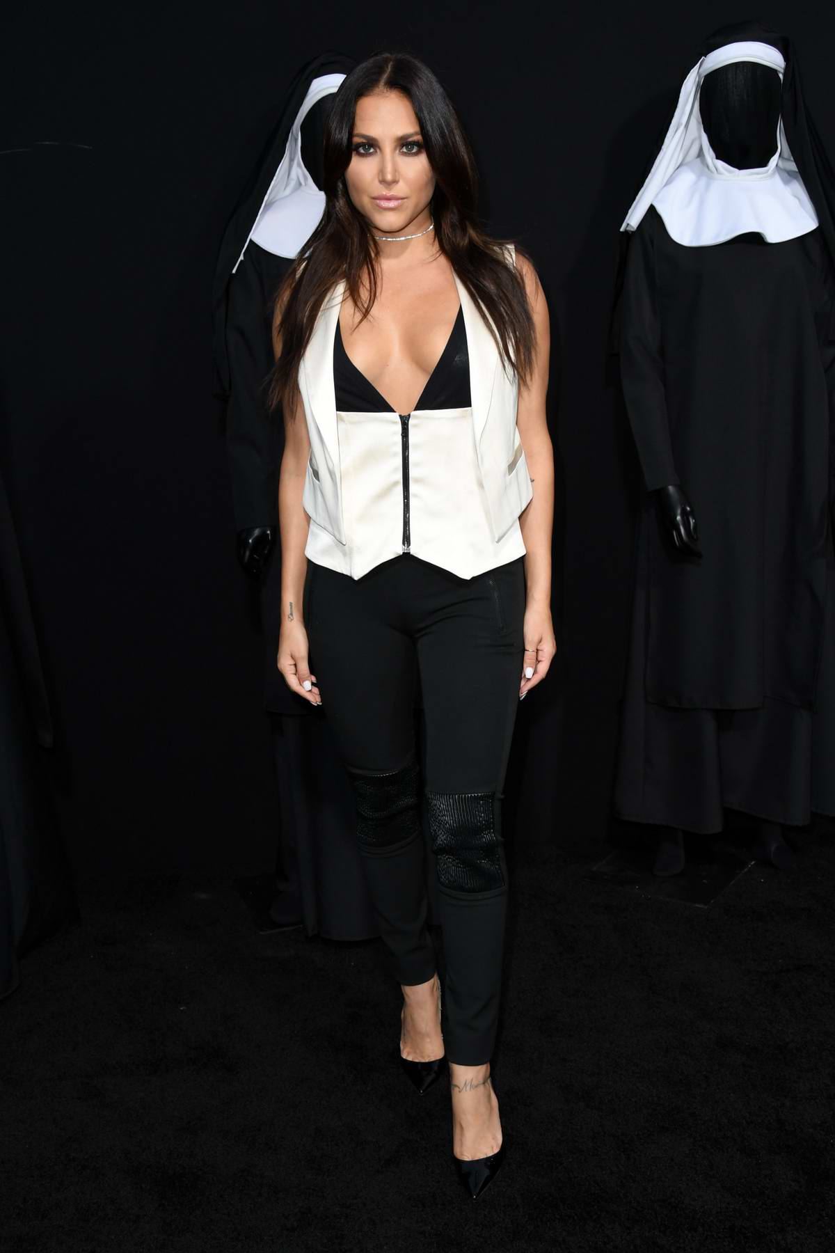 Cassie Scerbo attends 'The Nun' film premiere at TCL Chinese Theatre in Hollywood, Los Angeles