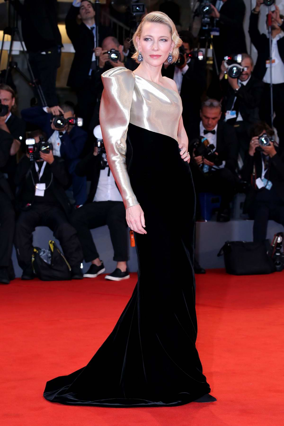 Cate Blanchett attends 'Suspiria' premiere during 75th Venice Film Festival in Venice, Italy