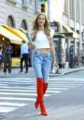 Chase Carter attends callbacks for the Victoria's Secret Fashion Show 2018 in Midtown, New York City