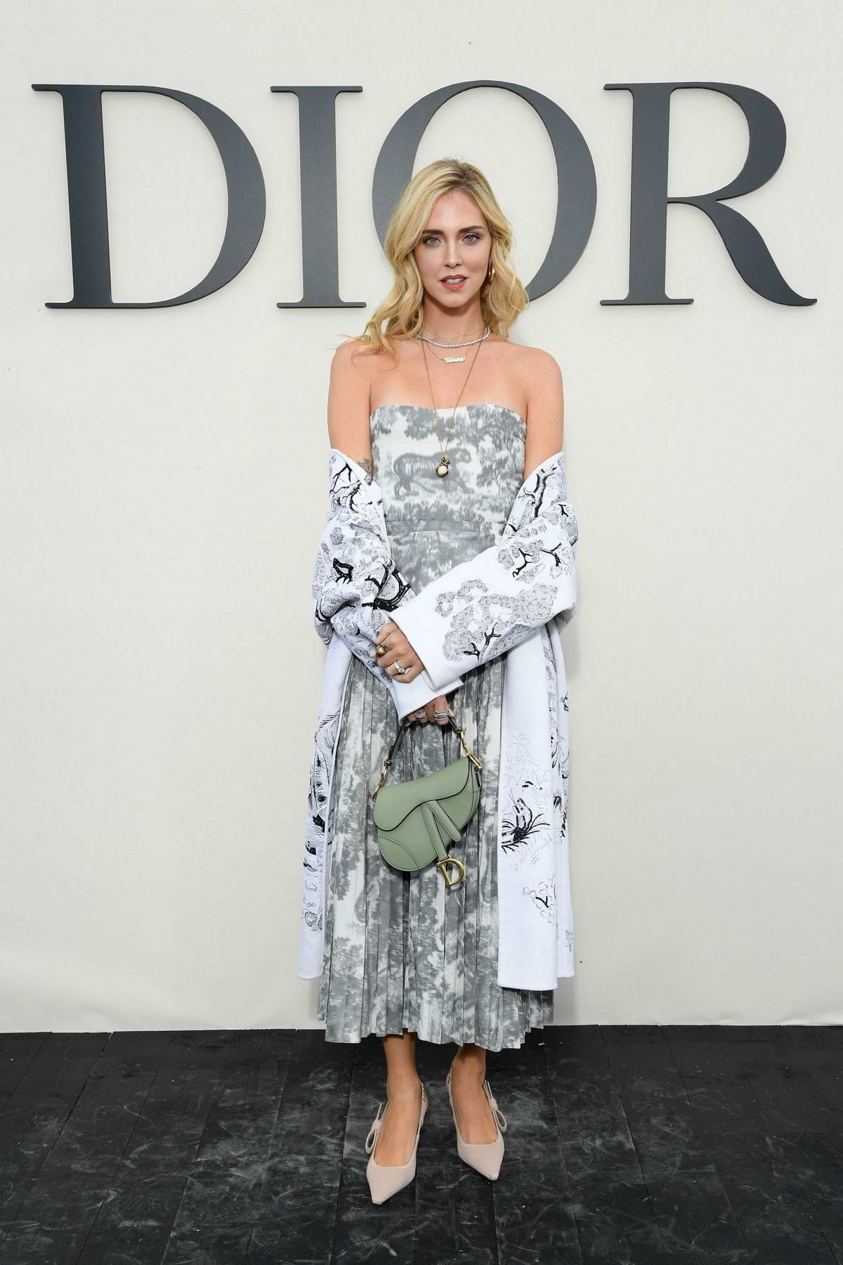 Chiara Ferragni attends the Christian Dior Show during Paris Fashion Week in Paris, France