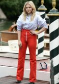 Chloe Grace Moretz spotted at Hotel Excelsior during 75th Venice Film Festival in Venice, Italy