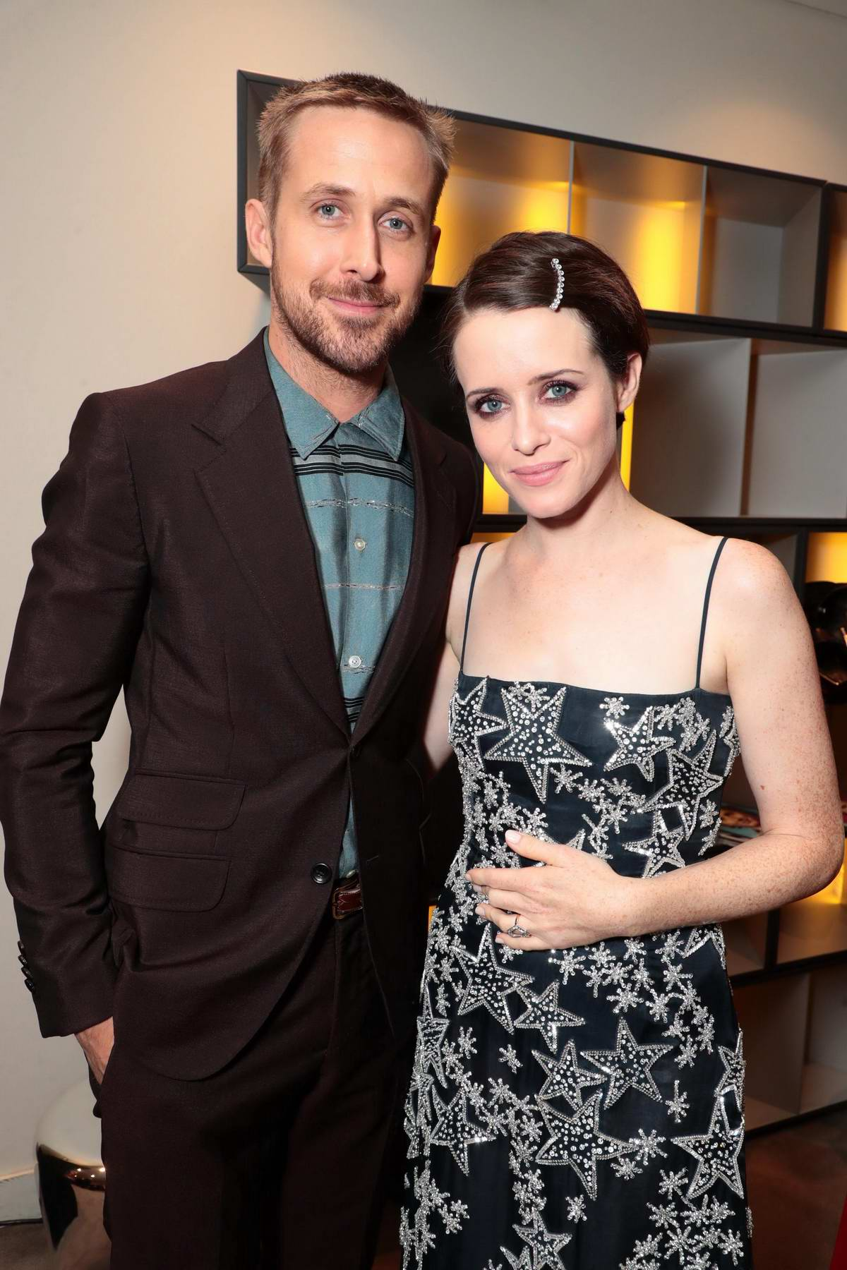 Claire Foy and Ryan Gosling attends the 'First Man' premiere during 2018 Toronto International Film Festival (TIFF 2018) in Toronto, Canada