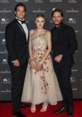 Dakota Fanning, Henry Cavill and Daniel Bruhl attends Jaeger-Lecoultre Gala Dinner during 75th Venice Film Festival in Venice, Italy