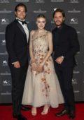 Dakota Fanning, Henry Cavill and Daniel Bruhl attends Jaeger-Lecoultre Gala Dinner during 75th Venice Film Festival in Venice, Italy