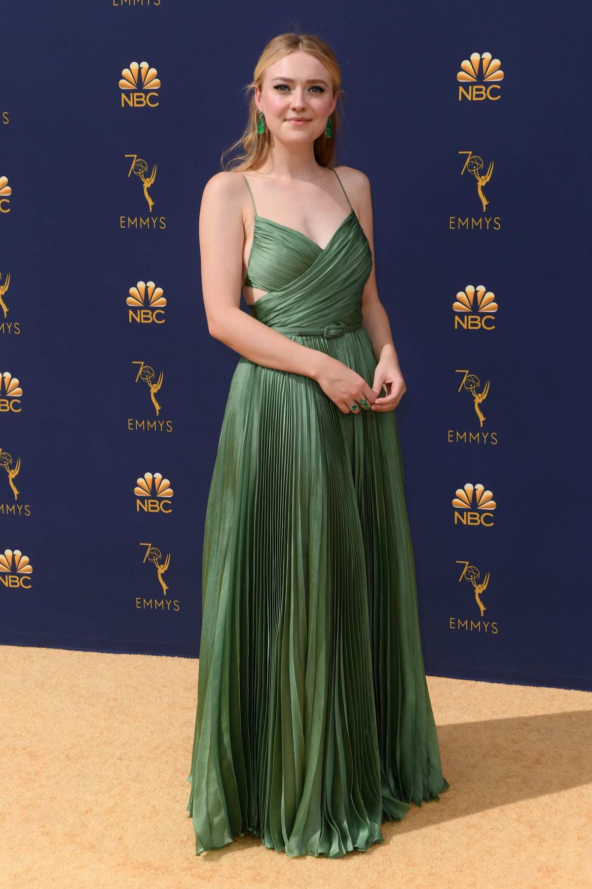 Dakota Fanning attends the 70th Primetime EMMY Awards (EMMYS 2018) at Microsoft Theater in Los Angeles