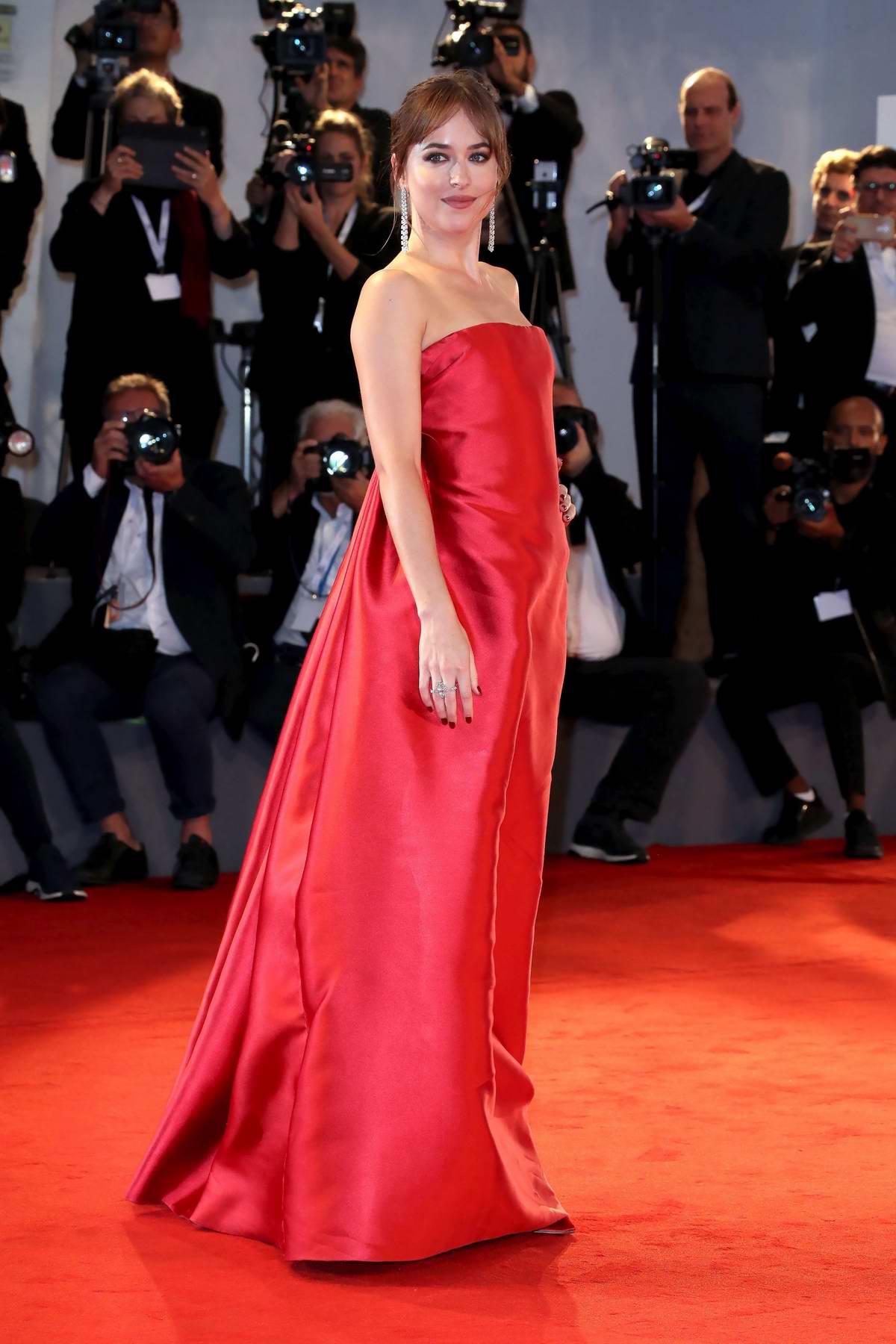 Dakota Johnson attends 'Suspiria' premiere during 75th Venice Film Festival in Venice, Italy