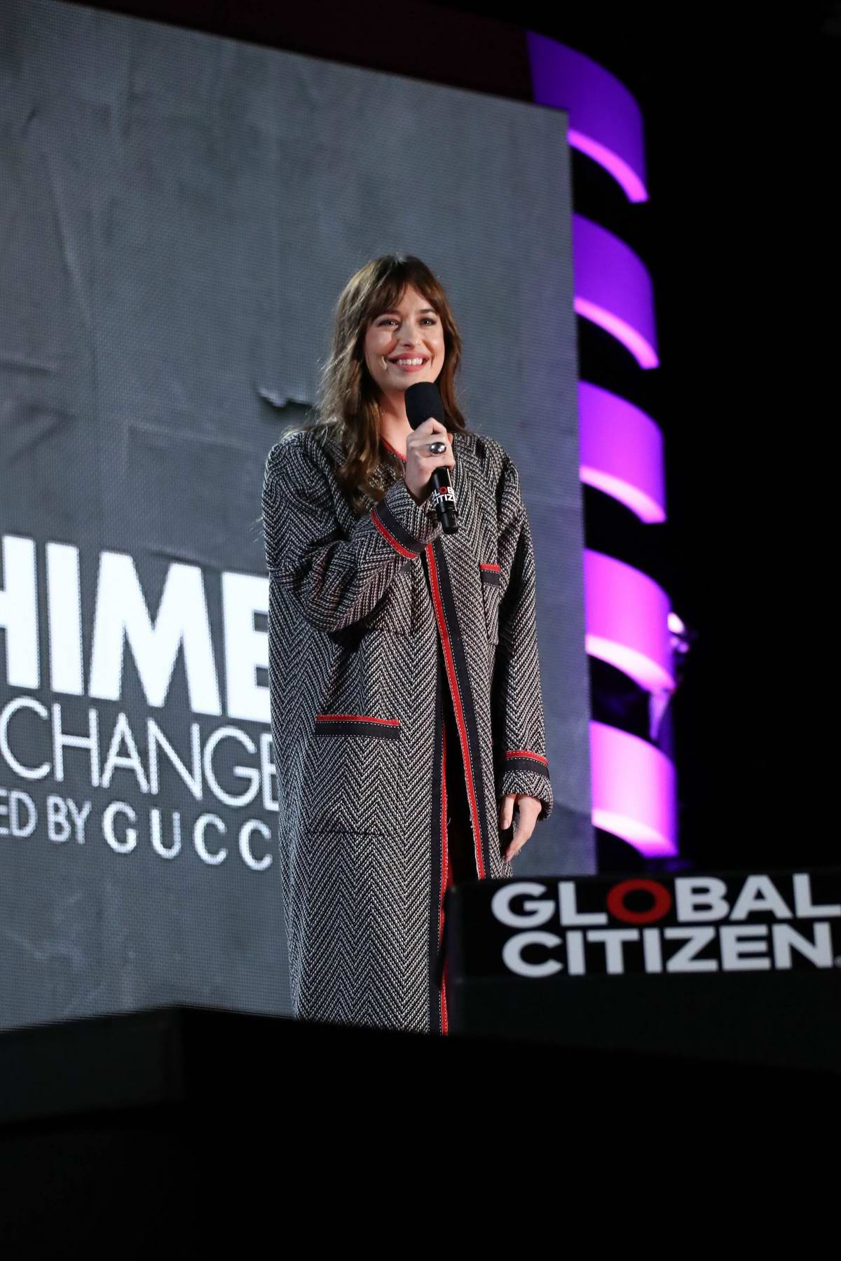 Dakota Johnson attends the 2018 Global Citizen Festival: Be The Generation at Central Park in New York City