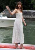 Dakota Johnson seen arriving at Hotel Excelsior during 75th Venice Film Festival in Venice, Italy