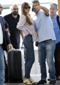 Dakota Johnson seen leaving after attending 75th Venice Film Festival in Venice, Italy