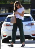 Dakota Johnson stops by the Earthbar to pick up some supplements in West Hollywood, Los Angeles