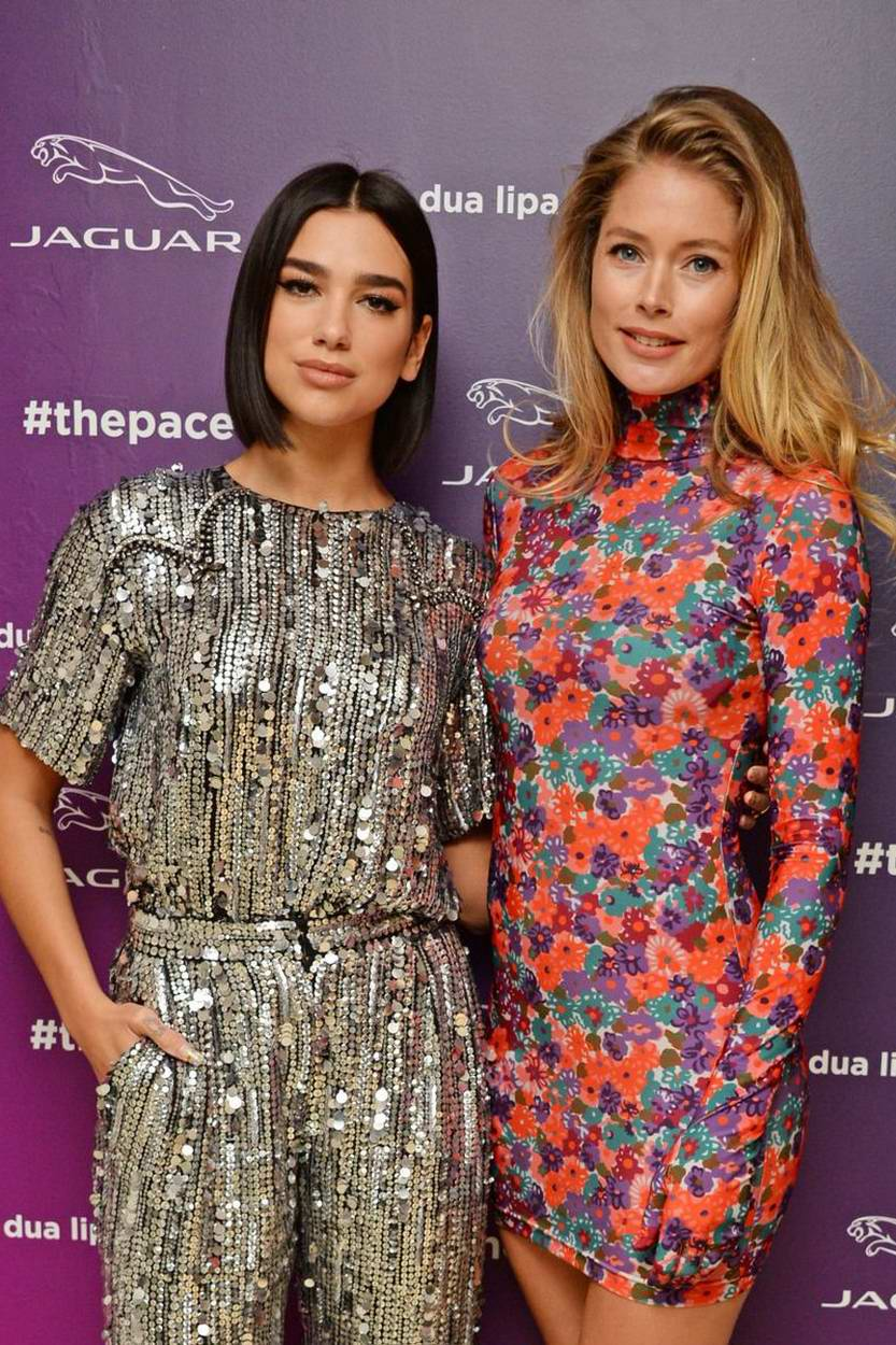 Dua Lipa and Doutzen Kroes at 'Dua Lipa x Jaguar' Launch event hosted by Jaguar in Amsterdam, Netherlands